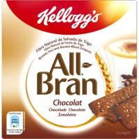 Barrita de chocolate KELLOGG`S All-Bran, 6 uds., caja 240 g