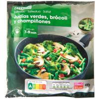 Salteado de judías-brócoli-champiñones EROSKI, bolsa 450 g