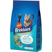 Mix de salmón-atún-verdura para gato BREKKIES, saco 4 kg