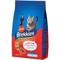 Mix de buey-ternera-verdura para gato BREKKIES, saco 4 kg