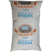 Leche Fresca Entera LACTEBAL, bolsa 1 litro