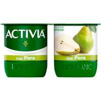 Activia con pera DANONE, pack 4x120 g