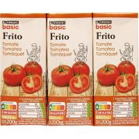 Tomate frito EROSKI basic, pack 3x200 g