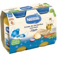 Potito cena crema de verduras-pavo NESTLÉ, pack 2x200 g