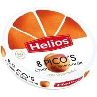 Picos de melocotón HELIOS, porciones, caja 170 g