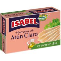 Ventresca de atún claro en aceite de oliva ISABEL, lata 115 g