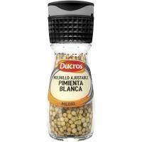 Pimienta blanca molinillo DUCROS, frasco 39 g