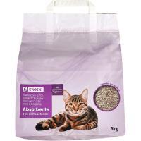Arena absorbente para gatos EROSKI, saco 5 kg