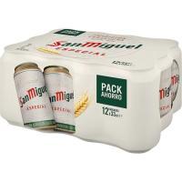 Cerveza SAN MIGUEL, pack 12x33 cl