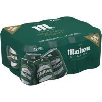 Cerveza MAHOU Clásica, pack lata 12x33 cl