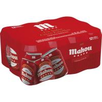 Cerveza MAHOU 5 Estrellas, pack lata 12x33 cl