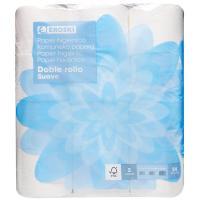 Papel higiénico suave doble rollo EROSKI, paquete 24 rollos