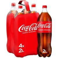 Refresco de cola COCA COLA, pack 4x2 litros