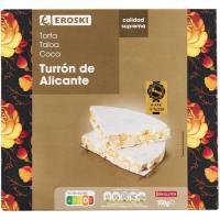 Torta turrón de Alicante EROSKI, caja 150 g