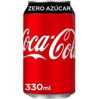 Refresco de cola COCA COLA Zero, lata 33 cl