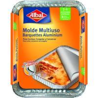 Molde de aluminio multiuso con tapa 22x17 cm ALBAL, pack 3 uds.