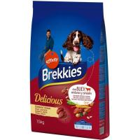 Delicious de buey para perro BREKKIES, saco 7,5 kg