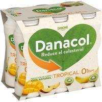 Danacol para beber tropical DANONE, pack 6x100 ml
