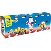 Actimel para beber de fresa DANONE, pack 14x100 ml