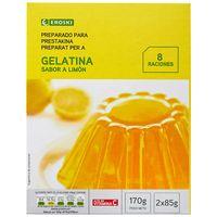 Gelatina de limón EROSKI, caja 170 g