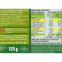Biactive natural con soja EROSKI, pack 4x125 g