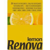 Servilleta húmeda olor limón RENOVA, paquete 20 uds.
