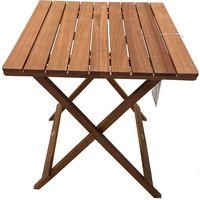 Mesa plegable de madera FSC tratada 60x60x72 cm Altea, 1 ud