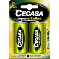 Pila super alcalina LR20 (D) CEGASA, pack 2 unid.