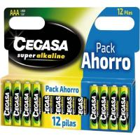 Pila super alcalina LR03 (AAA) CEGASA, pack 12 uds