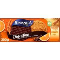Galleta Digestive de chocolate noir FONTANEDA, caja 300 g