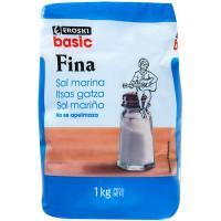 Sal marina fina EROSKI basic, paquete 1 kg