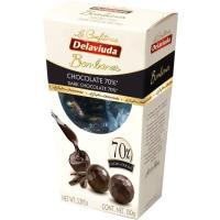 Bombones de chocolate negro DELAVIUDA, caja 150 g