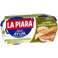 Paté de atún en aceite de oliva natural LA PIARA, pack 2x75 g