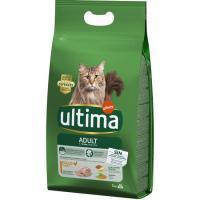 Alimento de pollo-arroz para gato adulto ULTIMA, saco 3 kg
