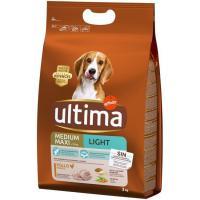 Alimento light para perro mediano-maxi ULTIMA, saco 3 kg