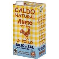 Caldo natural de pollo bajo en sal ANETO, brik 1 litro