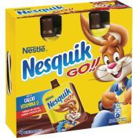 Postre lácteo de chocolate NESTLÉ Nesquik Go, pack 4x80 ml