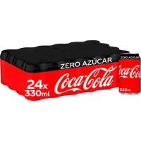 Refresco de cola COCA COLA Zero, pack 24x33 cl