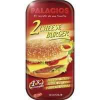 Hamburguesa de queso PALACIOS, pack 2x125 g