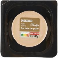Paté de Foie de pato EROSKI, blister 100 g