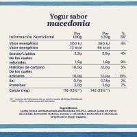 Yogur sabor a macedonia DANONE, pack 4x120 g