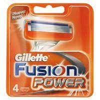 Cargador de afeitar GILLETE Fusión Power, pack 4 unid.