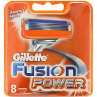 Cargador de afeitar GILLETTE Fusion Power, pack 8 unid.