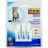 Pipetas repelentes con aceites para gato DIXIE, pack 3 uds.