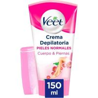 Crema depilatoria para ducha piel normal VEET, tubo 150 ml