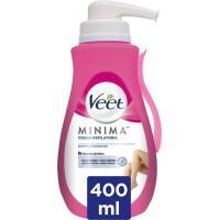 Crema depilatoria piel sensible VEET, dosificador 400 ml