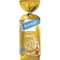 Tortitas de maíz BICENTURY, paquete 130 g