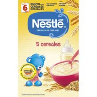 Papilla de 5 cereales desde 5º mes NESTLÉ, caja 600 g