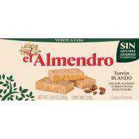 Turrón blando sin azúcar EL ALMENDRO, caja 200 g