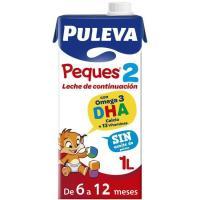 Leche líquida de continuación PULEVA Peques 2 , brik 1 litro